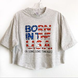 Born in the USA Graphic Tee Crop Top